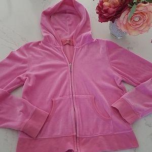 Juicy Couture Zip Hoodie velour Jacket,  pink